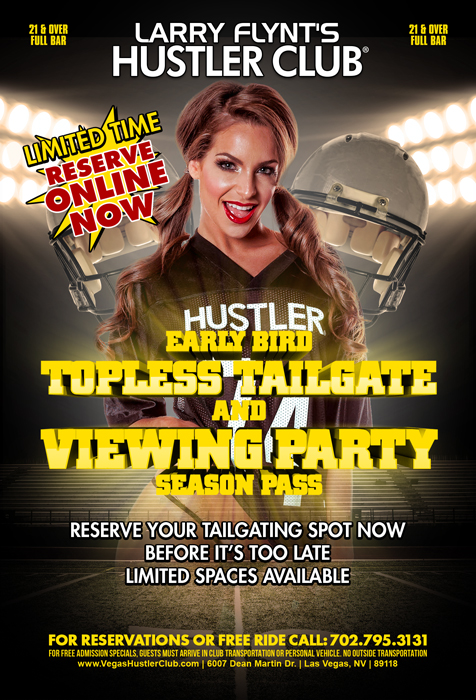 Early Bird Topless Tailgate and Viewing Party